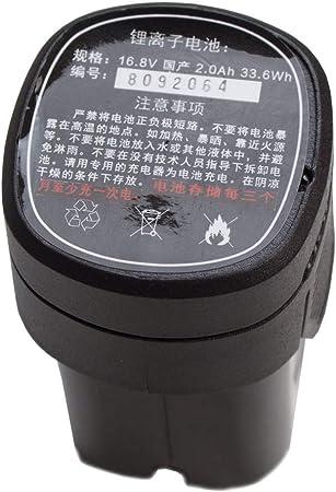 YATEK Bater/ía para Tijeras de podar el/éctricas port/átiles EL46008 33,6 WH 2.0 Ah EL46008-B Li-Ion 16.8V