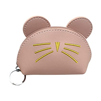 51dc2c6a85b4 ❤ Sunbona Coin Purses for Women Fashion Cute Cat Leather Wallet ...