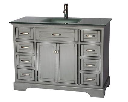 46 contemporary style single sink bathroom vanity model 2422 rh amazon com 46 inch bathroom vanity cabinets 46 bathroom vanity cabinets