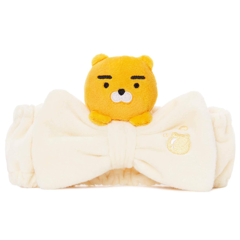 KAKAO FRIENDS Weiches pl/üsch stirnband mit schleifenband f/ür gesicht waschen dusche dusche niedlichen charakter f/ür M/ädchen
