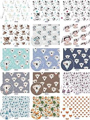 Sellon24 - Tela de algodón 100% algodón, 50 cm por Metro, Tejido ...