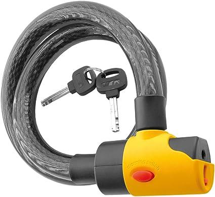V PARTS - 11820 : Candado con alarma acustica 16mm y 100cm bici ...