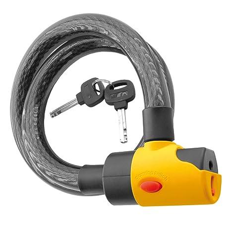 V PARTS - 11820 : Candado con alarma acustica 16mm y 100cm bici bicicleta