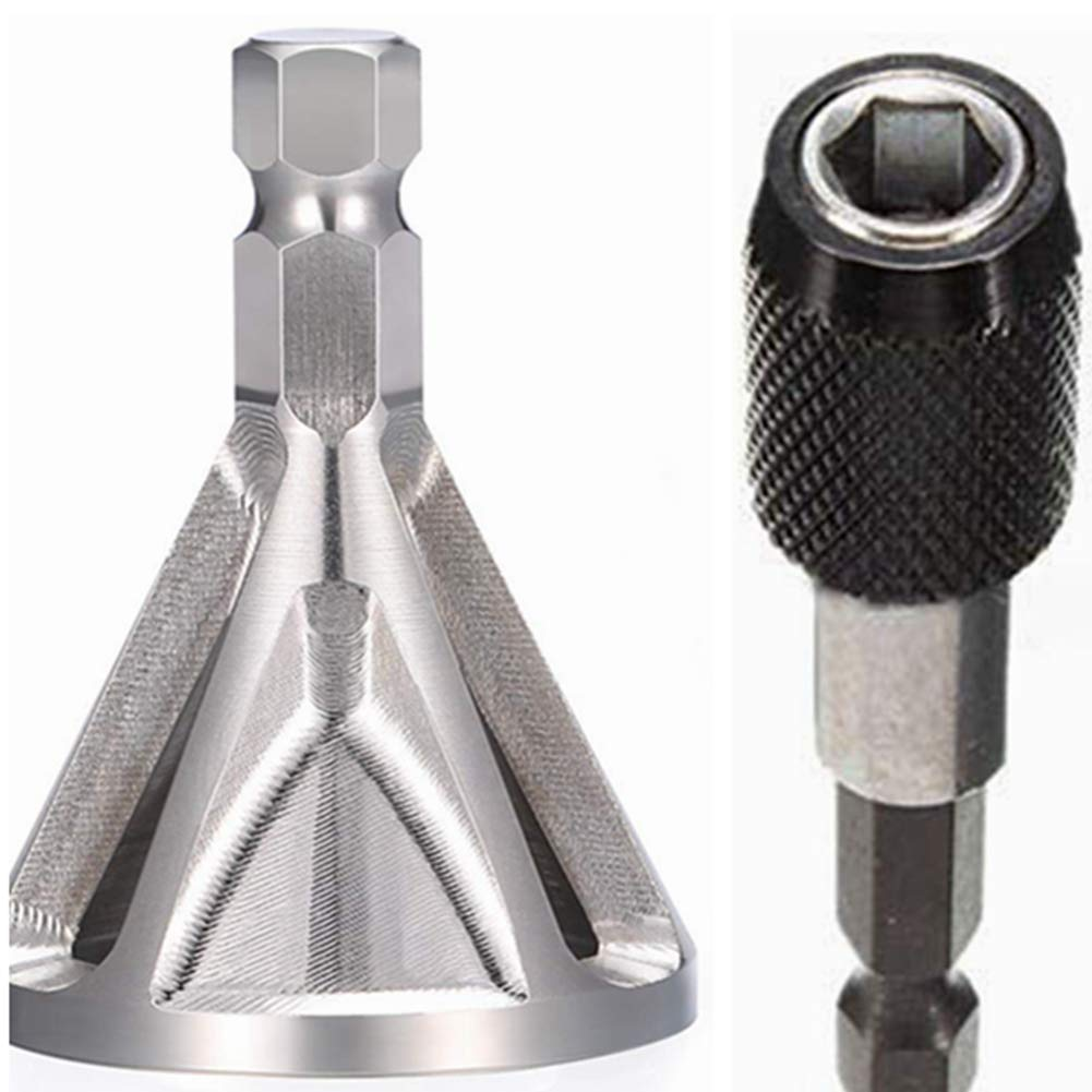 Hex Shank Bits Hex DreamColor Deburring External Chamfer Tool Remove Burr Tools Fits Size 8-32 Bolts
