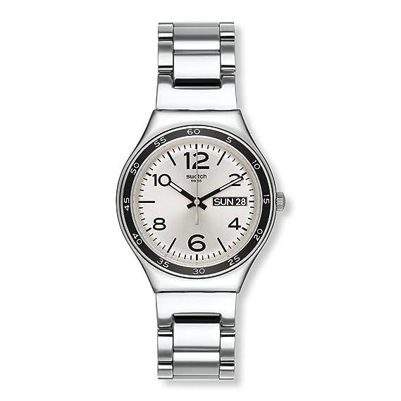 Swatch Reloj Analógico de Cuarzo Unisex con Correa de Acero Inoxidable - YGS766G: Amazon.es: Relojes
