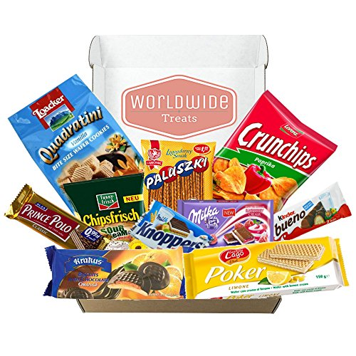 European Snack Mix Package by WorldWideTreats! Snacks from Poland, Greece, Spain, Italy and more! by Worldwide Treats