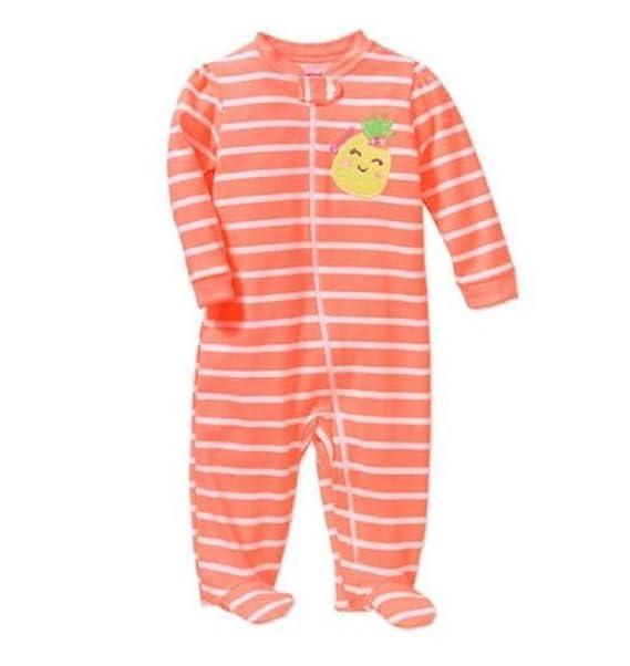 aeaa16980 Garanimals Baby Girl Preemie Sleeper Size Preemie (Preemie, Peach Dot)