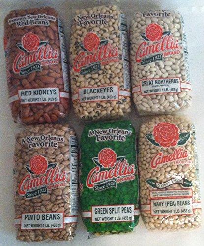 New Orleans (Beans and Peas) Six Pack Sampler 1 Each of Kidneys, Blackeyes,