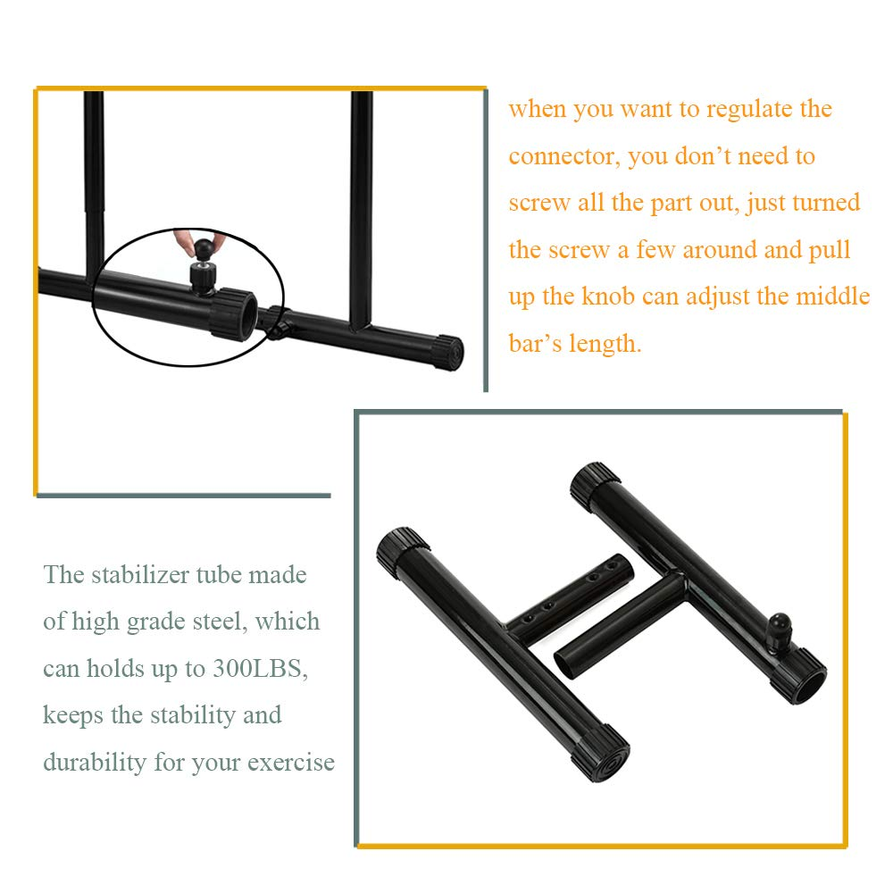 RELIFE REBUILD YOUR LIFE Dip Station Functional Heavy Duty Dip Stands Fitness Workout Dip bar Station Stabilizer Parallette Push Up Stand (Black) by RELIFE REBUILD YOUR LIFE (Image #4)