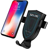 Wireless Car Charger, GELOO Wireless Fast Car Charger Mount Qi Fast Charging Wireless Charger Car Vent Cell Phone Holder Cradle Samsung Galaxy S9/S9+ Plus/S8/S8+, iPhone X, 8/8 Plus More