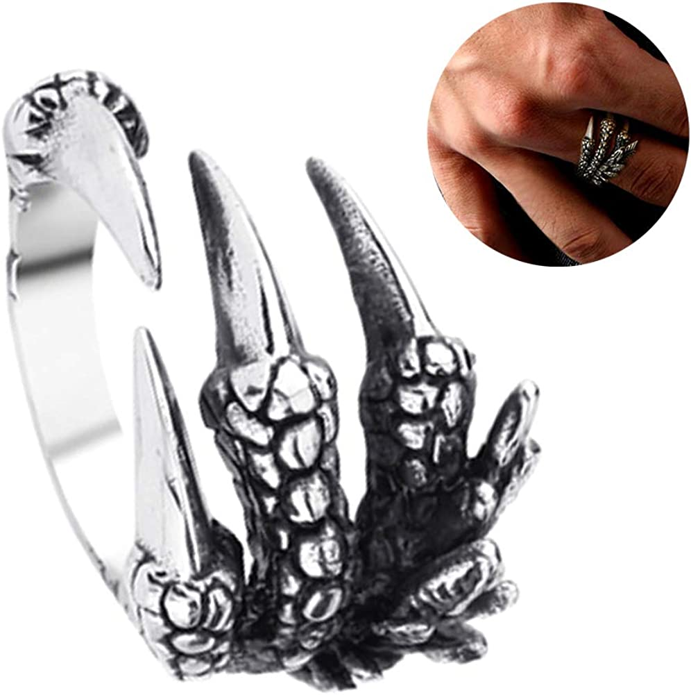 SEniutarm Engagement Love Rings Wedding Bands Fashion Unisex Titanium Steel Dragon Claw Open Finger Ring Jewelry Charm Gift for Women//Girl Finger Rings DIY Jewelry Gifts