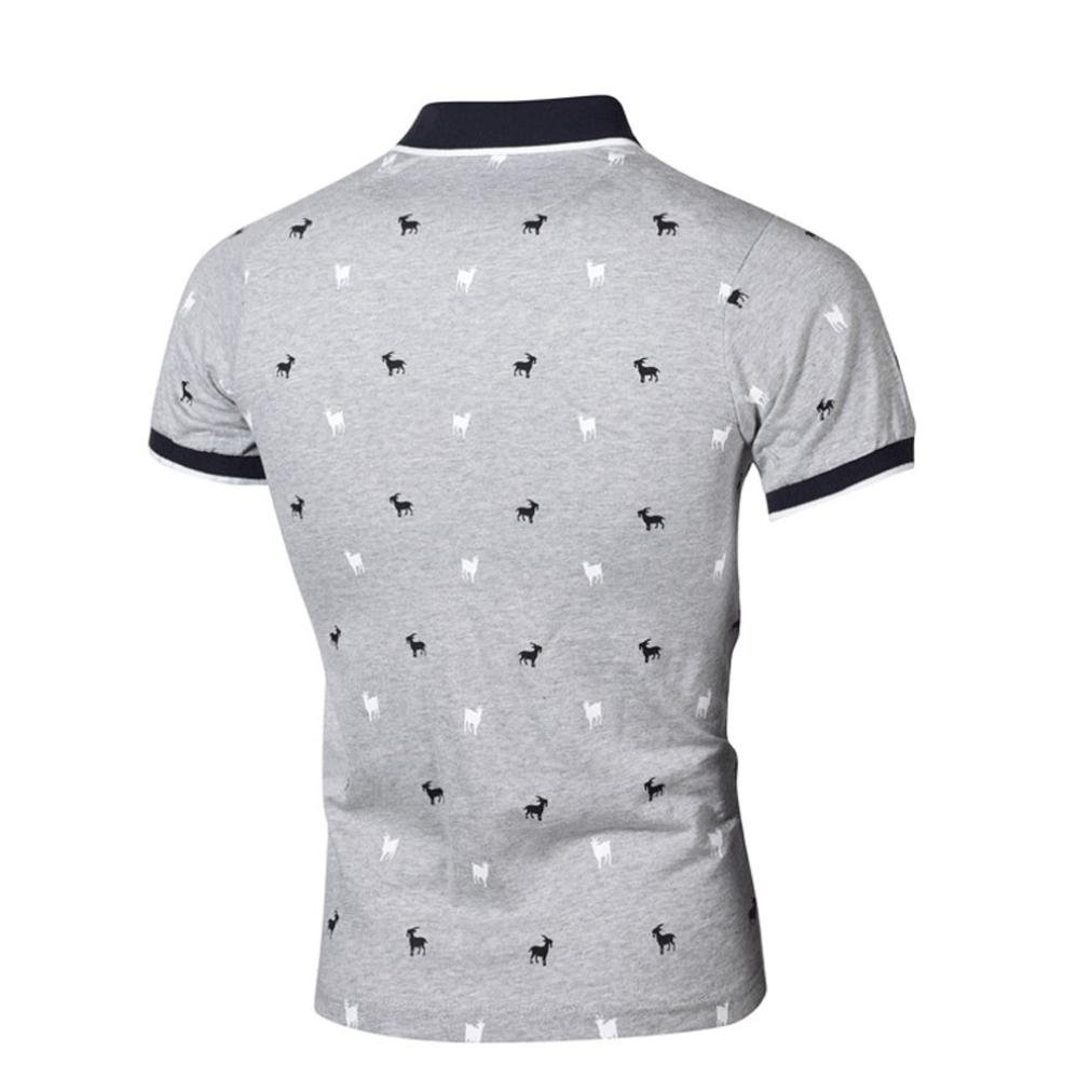 Alalaso Fashion Personality Mens Summer Casual Slim Short Sleeve T Shirt Printed Top Blouse | Amazon.com