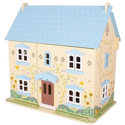 Bigjigs Toys Heritage Playset Sunflower Cottage   Wooden Doll House