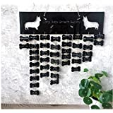 Koji growing diary stickers living room ornaments decorative dog wall acrylic ornaments (Black)