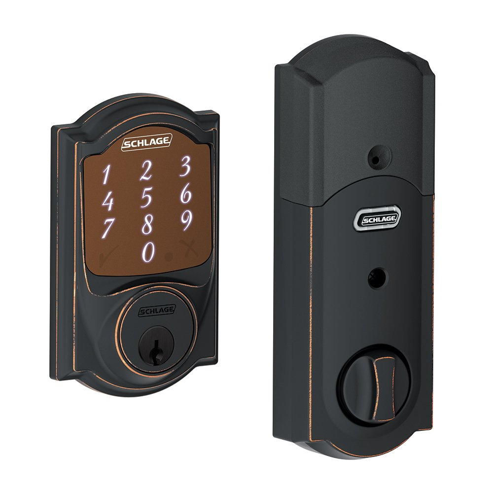 Schlage BE479 V CEN 619 Sense Smart Deadbolt with Century Trim Satin Nickel (BE479 CEN 619), Works with Alexa