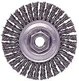 Weiler 13130 Mini Roughneck Stringer Bead Wheel, 4'', 0.20'' Steel Fill, 1/2''-13 UNC Nut (Pack of 5)