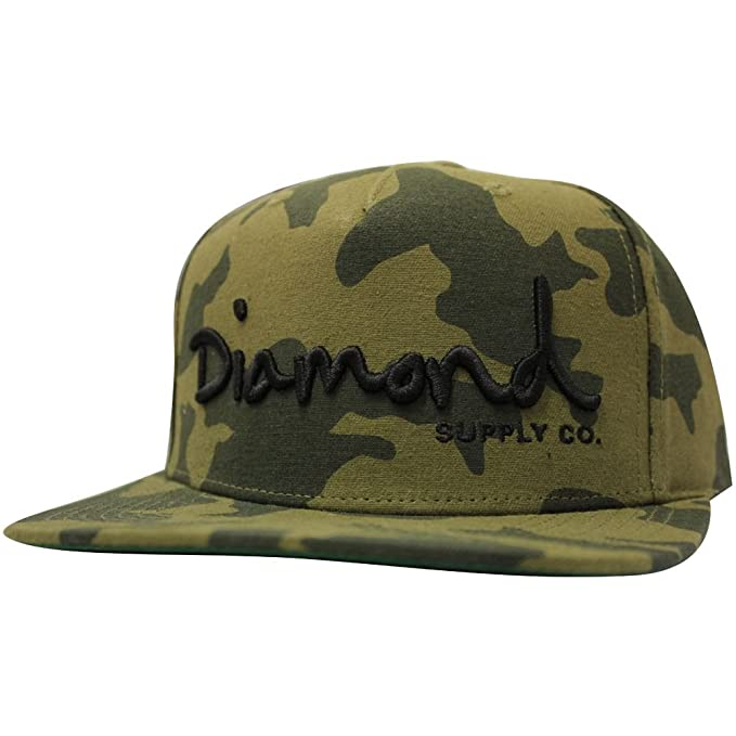 c8d63fa89c7 Image Unavailable. Image not available for. Color  Diamond Supply Co OG  Script Snapback Camo