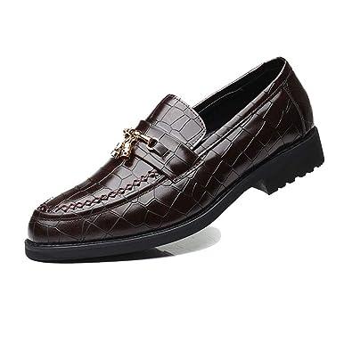 NXY De los Hombres Inteligente Moda Vestir Ponerse Mocasines con borlas Zapatos Casuales de Oficina: Amazon.es: Zapatos y complementos