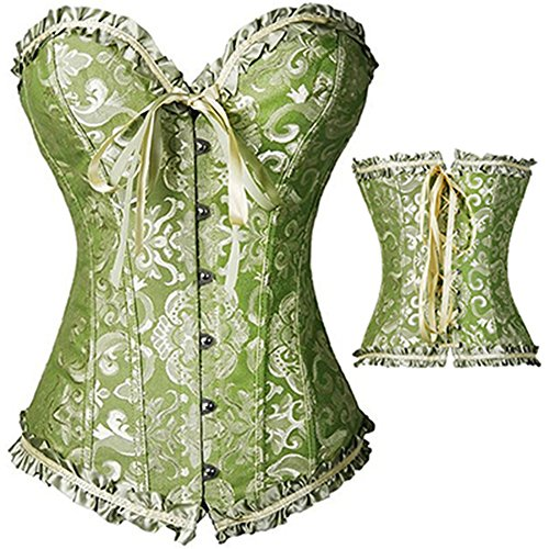 UUGULO Sexy Women Steampunk Clothing Gothic Plus Size Corsets Lace up Boned Overbust Bustier Waist Cincher Body Shaper