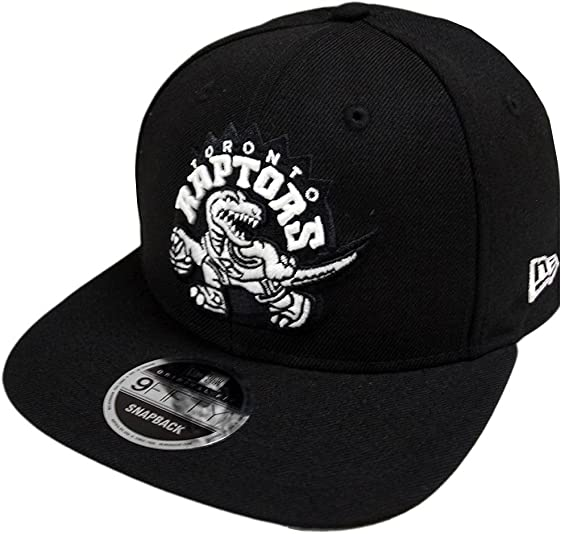 the latest 91341 2f4b5 New Era Toronto Raptors HWC Logo Black White 9fifty Snapback Cap Limited  Edition  Amazon.co.uk  Clothing