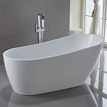 freestanding bath tub. kiva rhyme 67\u0026quot; freestanding bathtub, 100% pure acrylic soaking bath tub for bathroom