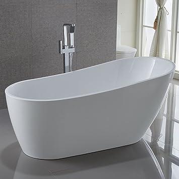 Delicieux KIVA RHYME 67u0026quot; Freestanding Bathtub, 100% Pure Acrylic Soaking Bath Tub  For Bathroom