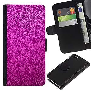 Reflet Rose pourpre - la tarjeta de Crédito Slots PU Funda de cuero Monedero caso cubierta de piel Para Apple (4.7 inches!!!) iPhone 6 / 6S