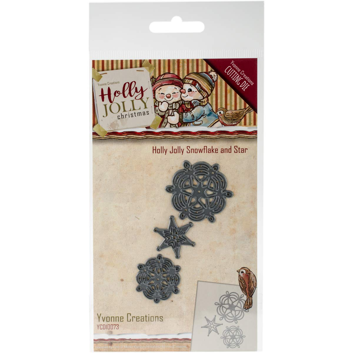 Find It Trading YCD10073 Snowflake & Star Yvonne Creations Holly Jolly Die B01KS0IM2O