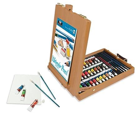All Media Easel Artist Set 48pc Oil Acrylic Watercolour Amazon