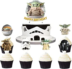 25pcs Star Wars Cake Topper, Star Wars birthday cake decoration, Star Wars theme party supplies