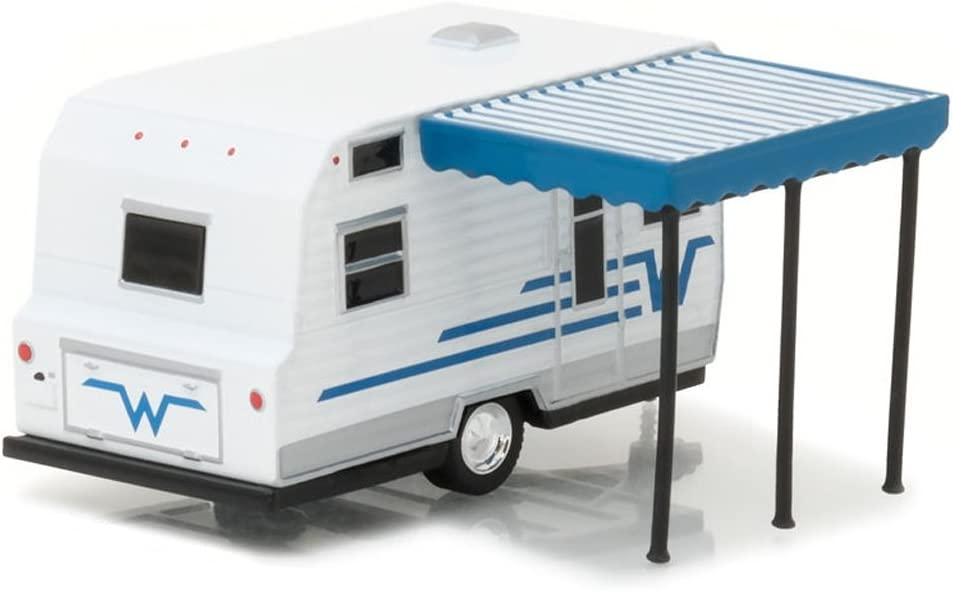 Greenlight 1:64 Hitched Homes Series 2 - 1964 Winnebago 216 Travel Trailer DIECAST White 34020-C