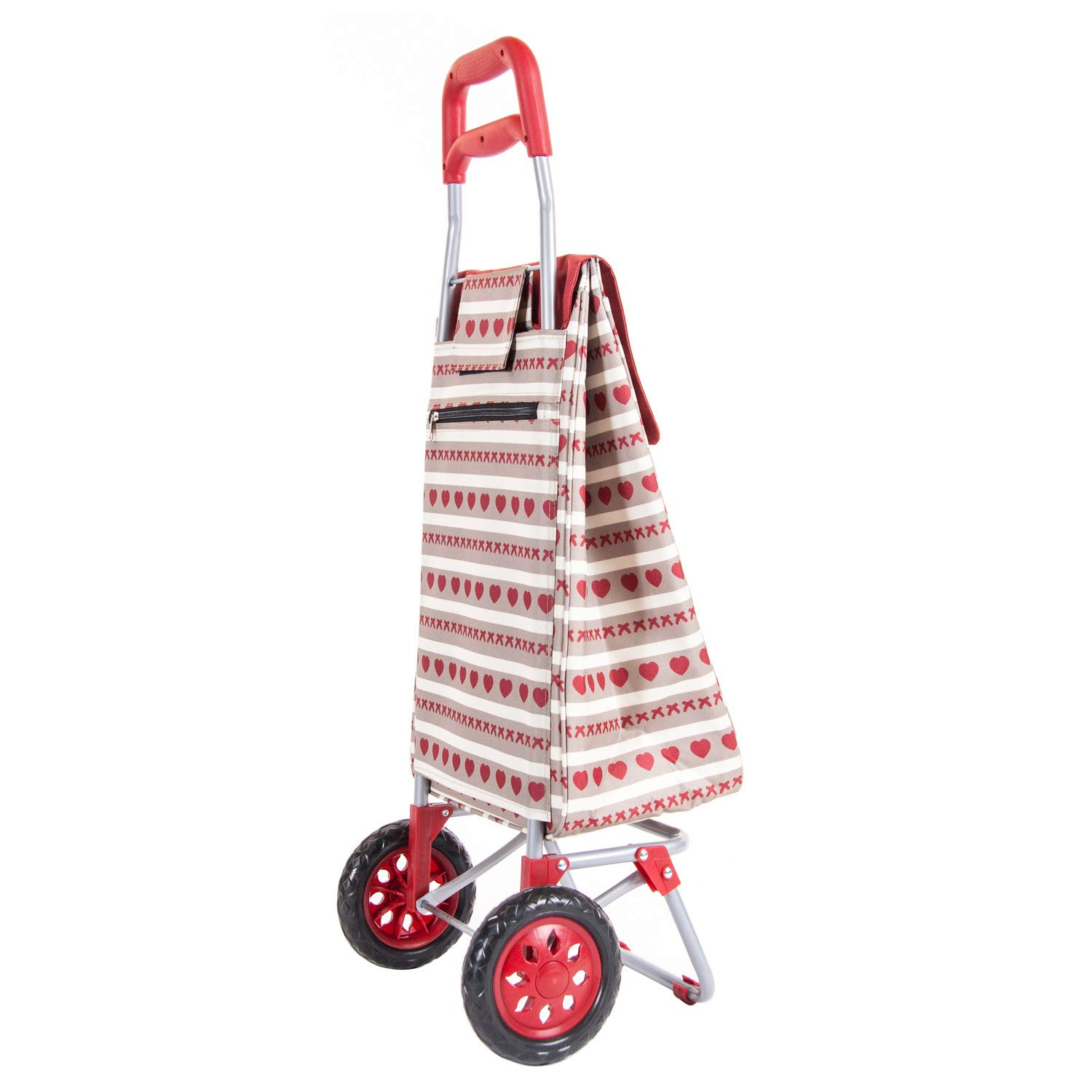 Sabichi 187611 Home Bistro 2 Wheel Shopping Trolley with Thermal Insulation Liner 40ltr Capacity 95 x 36.5 x 30cm