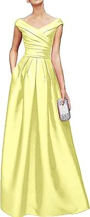 Topkleider - Vestido de fiesta para mujer, con falda triangular y cuello en V, vestido de noche, para bailes
