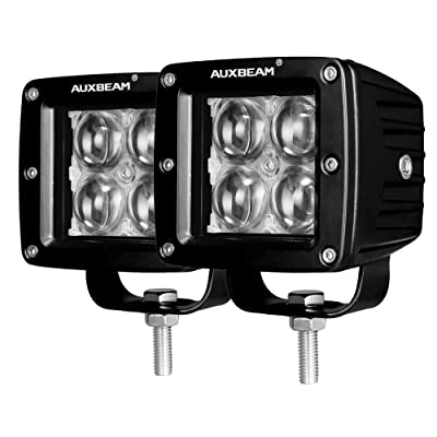 Auxbeam 3 Inch LED Light Bar 20w LED Pods Fog Lights Square Cube Lights Spot Beam Driving Light Waterproof for Offroad Truck 4WD SUV ATV UTV (Pack of 2): Automotive