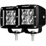 Auxbeam 3 Inch LED Light Bar 20w LED Pods Fog Lights Square Cube Lights Spot Beam Driving Light Waterproof for Offroad…