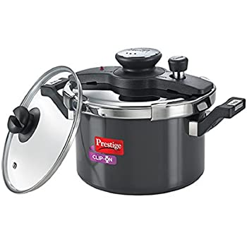 Prestige Clip on 5L Aluminium Pressure Cooker With Glass Lid
