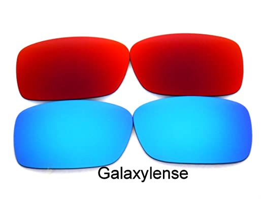 80ae899136 Galaxy Replacement Lenses For Oakley Crankcase Polarized Blue Red 2Pair -