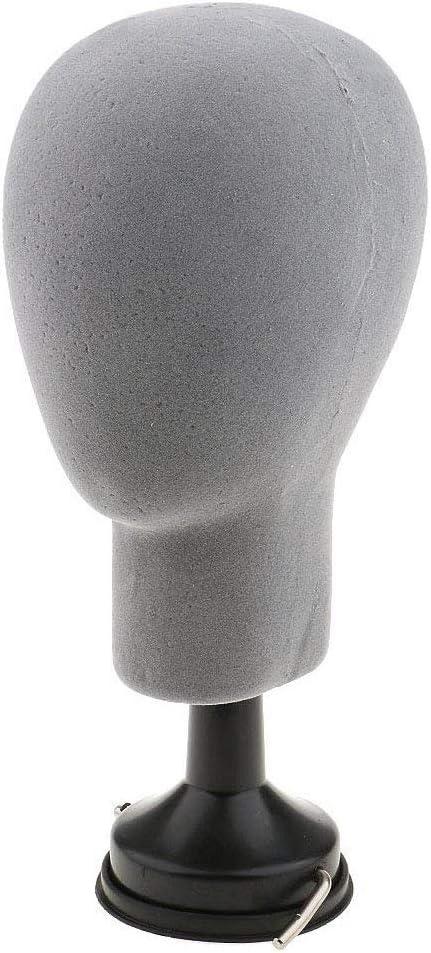 heaven2017 Styrofoam Mannequin Head Model Wigs Caps Glasses Display Stand Holder Black