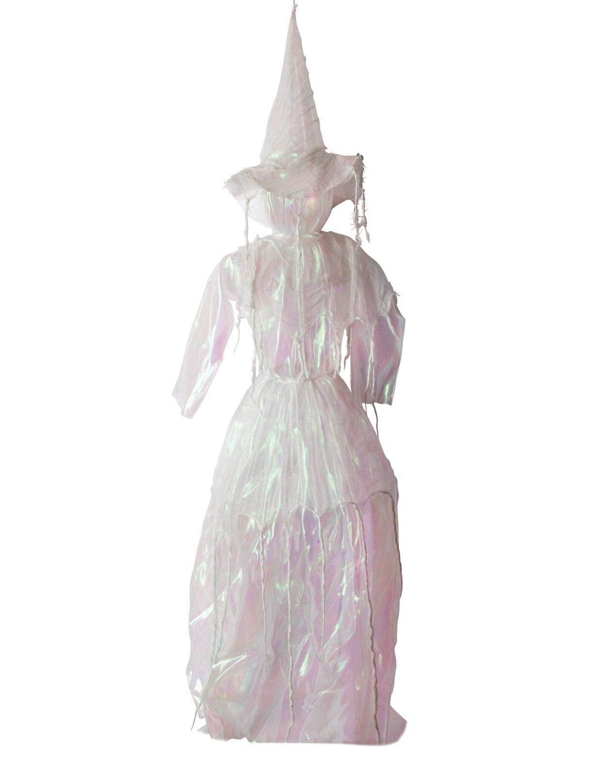 VTC Halloween Outdoor Decor Hanging Ghostly White Witch Lady Lights Up