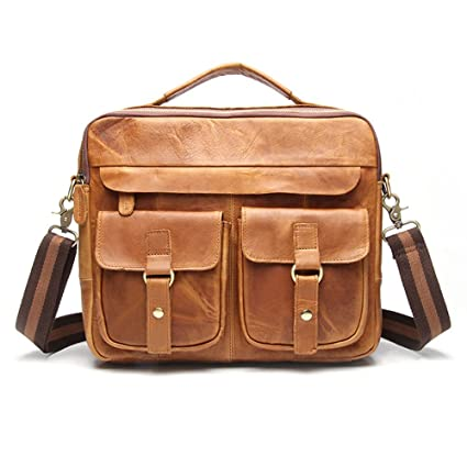 73597c0979e2 Men Hybrid Shoulder Bag Men's Leather Messenger Bag Laptop Bag Best ...