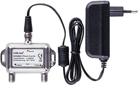 Netzteil mit F-Anschluss Stecker 18V//1000mA//230V für Multischalter aller Art