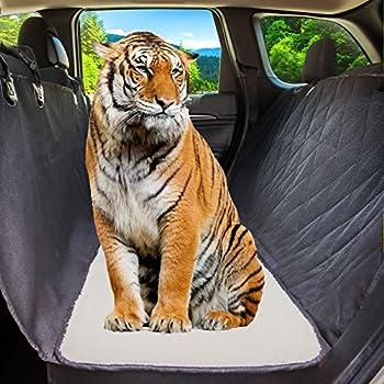 Amazon.com : Dog Car Seat Cover Hair Free Rear Bench, Convertible ...