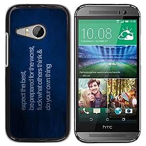 iKiki Tech / Estuche rígido - Esperamos lo mejor - HTC ONE MINI 2 / M8 MINI