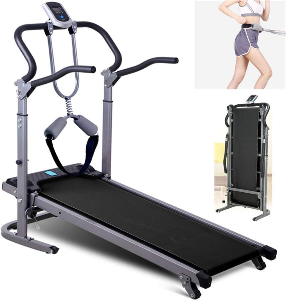 WOAIM Portatile Pieghevole Pendenza Tapis Roulant Meccanico Running Machine Walking Macchina per Palestra di Casa 100Kg Peso Massimo Cardio Fitness Exercise