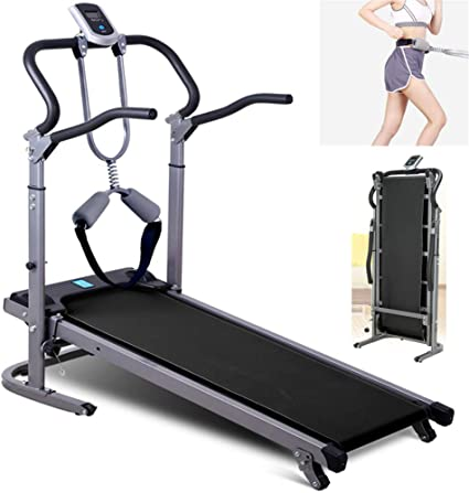 Folding Manual Treadmill Running Machine Exercise Fitness Jogging Gym Home 150kg