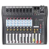 Best Karaoke Mixers - ammoon CT80S-USB 8 Channel Digtal Mic Line Audio Review