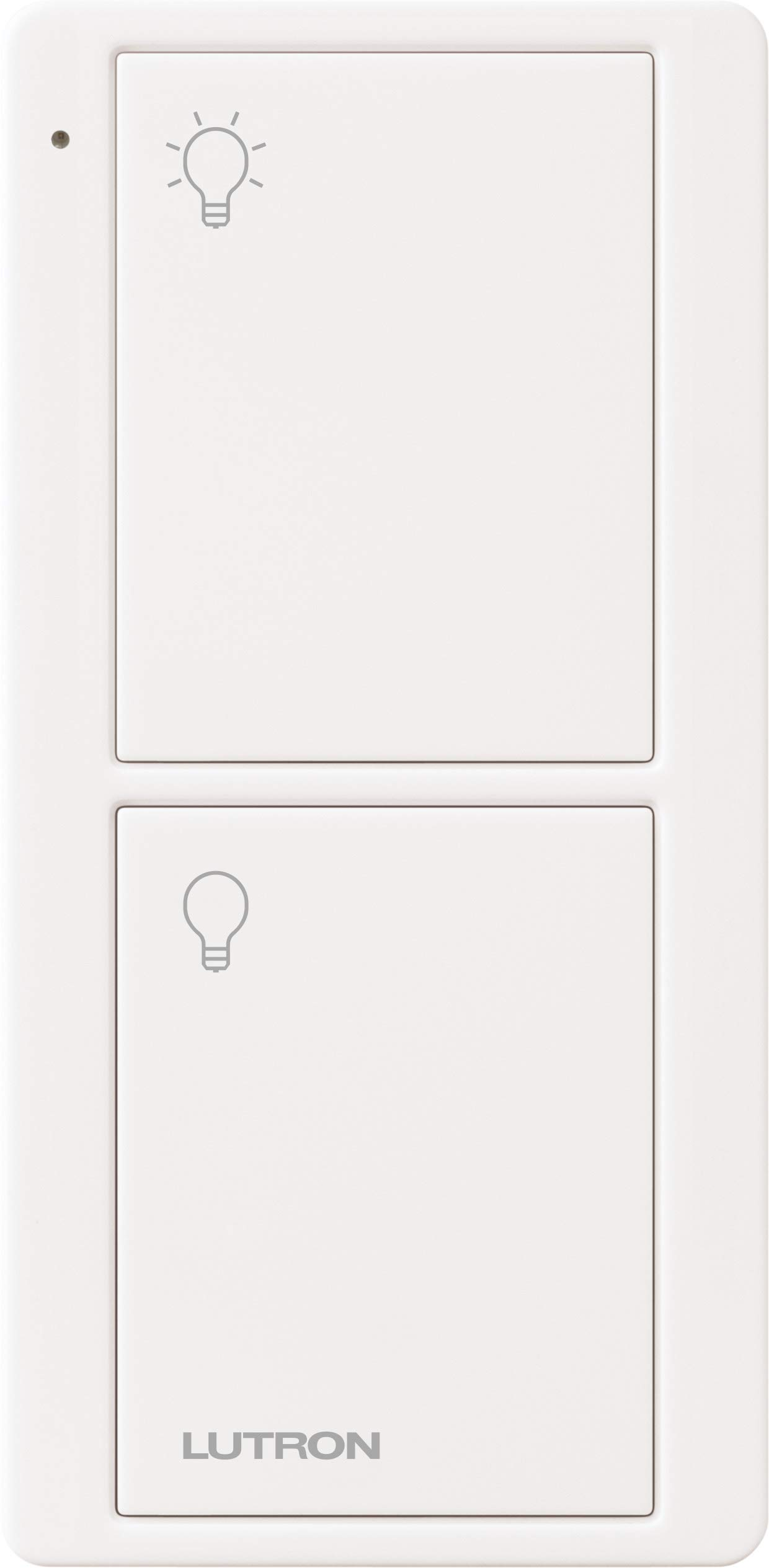 Lutron On/Off Switching Pico Remote for Caseta Smart Home Switch | PJ2-2B-GWH-L01 |White by Lutron