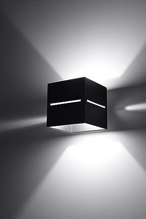 Bauhaus - Lámpara de pared (Diseño hogar, Negro, Pantalla ...