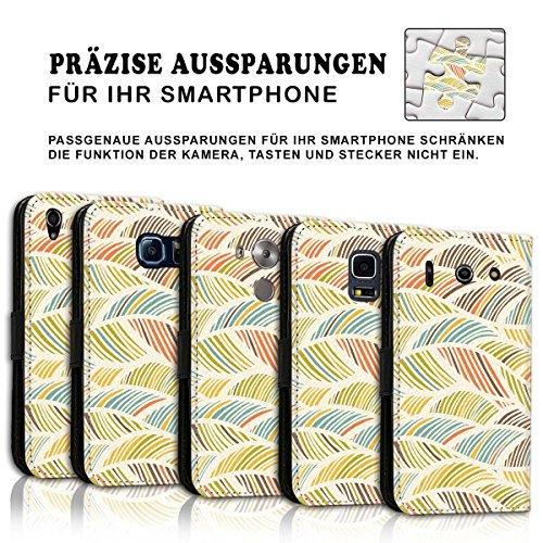 Wallet Book Style Flip Handy Tasche Case Schutz Hülle Schale Motiv Etui für Apple iPhone 5 / 5S - Design Flip MVD103