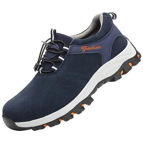 Tapa Acero Zapatos Zapatillas De Seguridad para Hombre Trabajo Industria Calzado Deportiva Antideslizante: Amazon.es: Zapatos y complementos
